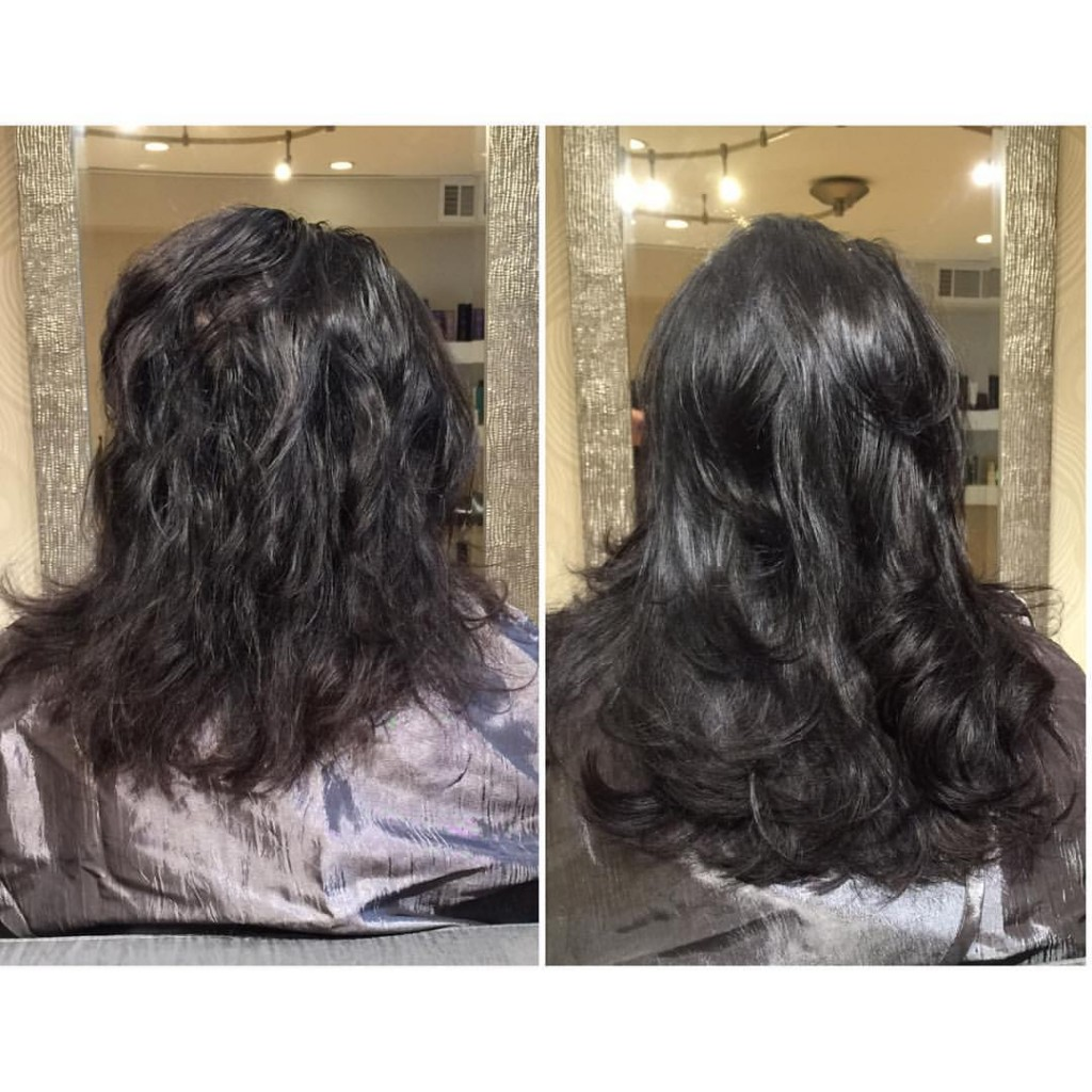 hair extensions for fullness before and after